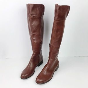 Nine West Brown Leather Riding Boots